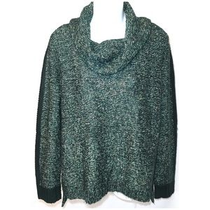 THE LIMITED Green Cowl Neck Sweater LARGE